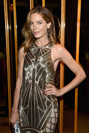 Michelle Monaghan teamed a classic red mani with a gold dress for the 2015 CFDA Fashion Awards after-party.