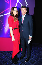 Mel C went for a modern look with this red fishtail dress at the official draw for the London Olympic football tournament.