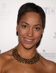 Cush Jumbo attended the Old Vic Theatre 24-Hour Celebrity Gala wearing her hair in a boy cut.