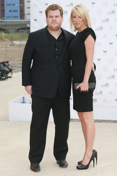 James Corden showed off his dapper style in a sharp suit.