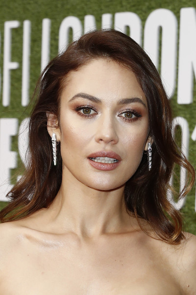 Olga Kurylenko Smoky Eyes [the man who killed don quixote,hair,face,eyebrow,hairstyle,skin,chin,lip,brown hair,beauty,blond,olga kurylenko,laugh gala,uk,european,london,england,premiere,bfi london film festival]