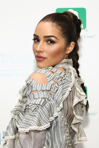 Olivia Culpo Long Braided Hairstyle