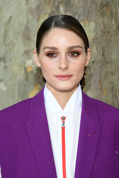 Olivia Palermo Long Braided Hairstyle [official,smile,olivia palermo,front row,spring,part,berluti menswear spring summer 2020,paris,france,berluti,paris fashion week,show]