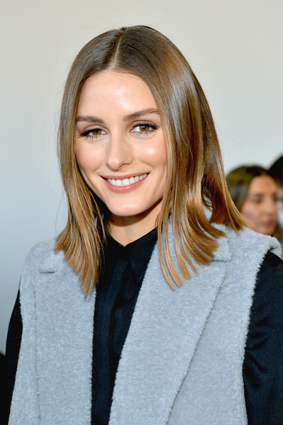 Olivia Palermo Flip [shows,hair,beauty,fashion model,human hair color,blond,hairstyle,fashion,long hair,smile,outerwear,noor - front row,olivia palermo,noon,noor,the shows at gallery ii,new york city,spring studios,new york fashion week]