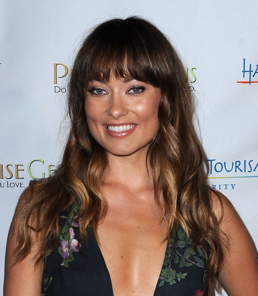 Olivia Wilde Long Curls with Bangs