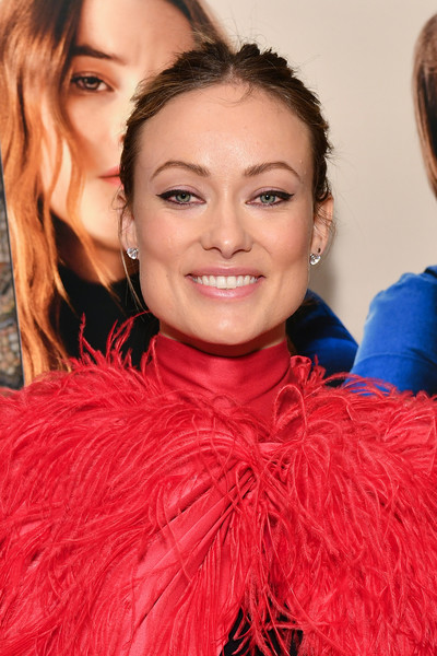Olivia Wilde Messy Updo [hair,face,lip,hairstyle,eyebrow,red,beauty,chin,long hair,fashion,olivia wilde,booksmart,screening,new york,whitby hotel]
