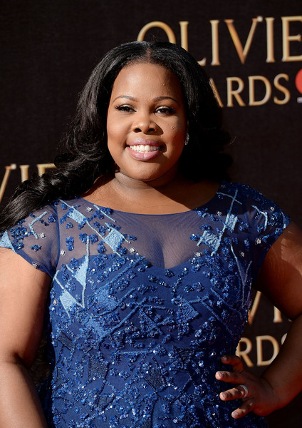 More Pics of Amber Riley Beaded Dress (1 of 5) - Dresses & Skirts Lookbook - StyleBistro [beauty,talent show,fashion,performance,formal wear,abdomen,event,trunk,fashion design,singer,red carpet arrivals,amber riley,olivier awards,royal albert hall,london,england]