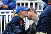 Autumn Phillips sported a blue Adidas baseball cap at the Equestrian day of the Olympics.