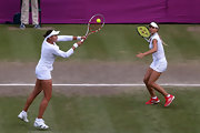 Maria Kirilenko added a pop of color with these red Adidas sneakers at the London Olympics.