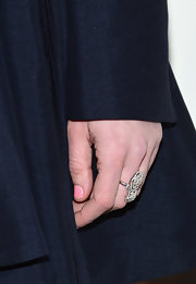 Kirsten Dunst upped the shine on her outfit with a diamond cocktail ring.