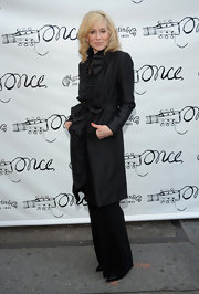 This is not your typical trenchcoat! The ruffles on this jacket looked so chic on Judith Light.