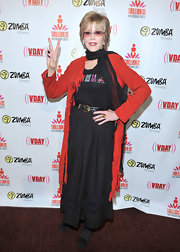 Jane Fonda channeled the '70s with a long black peasant skirt at the One Billion Rising event in LA.