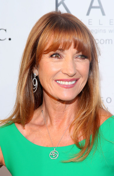 Fantastic Jane Seymour39S Long Straight Cut With Bangs Haute Hairstyles For Short Hairstyles For Black Women Fulllsitofus
