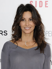 Gina Gershon sported a high-volume wavy 'do at the premiere of 'Side Effects.'