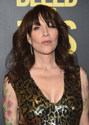 Katey Sagal wore shoulder-length waves with eye-skimming bangs at the premiere of 'Bleed for This.'