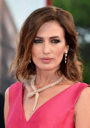 Nieves Alvarez made an ultra-luxe statement with this Bulgari Haute Couture diamond and gold snake necklace.