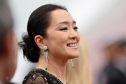 Gong Li pulled her locks back into a twisted bun for the 'Grace of Monaco' premiere.