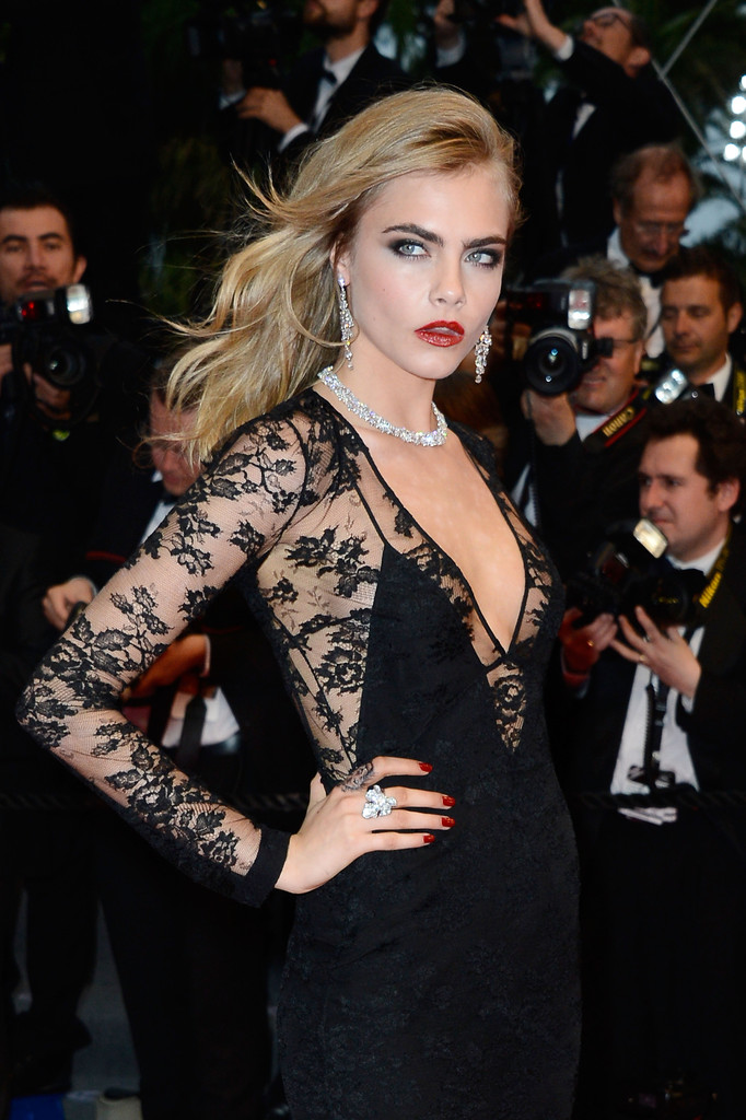 Cara+Delevingne in Arrivals at the Cannes Film Festival Opening Ceremony