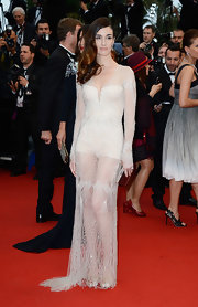Paz Vega's sheer web gown featured crystal-embellished long sleeves and a netted skirt, and was worn over a corset one-piece at the Cannes Film Festival Opening Ceremony.