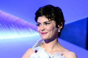 Audrey Tautou appears on stage during the Opening Ceremony of the 66th Annual Cannes Film Festival at the Palais des Festivals on May 15, 2013 in Cannes, France.