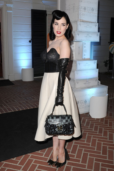 Dita+Von+Teese in Opening of Louis Vuitton Santa Monica to Benefit Heal the Bay