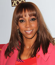 Holly Robinson flaunted her honey-brown locks at the LA Zoo.