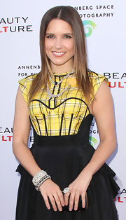 Sophia Bush paired her dress with a diamond bracelet.