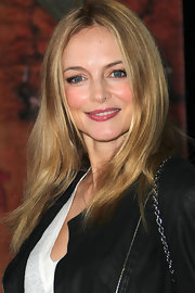 Heather Graham arrived at the opening night of Cirque du Soleil's 'OVO' wearing her hair sleek and straight.