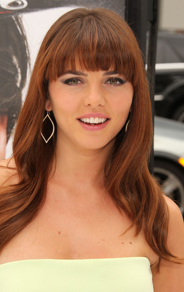 More Pics Of Ophelia Lovibond Long Wavy Cut With Bangs 5