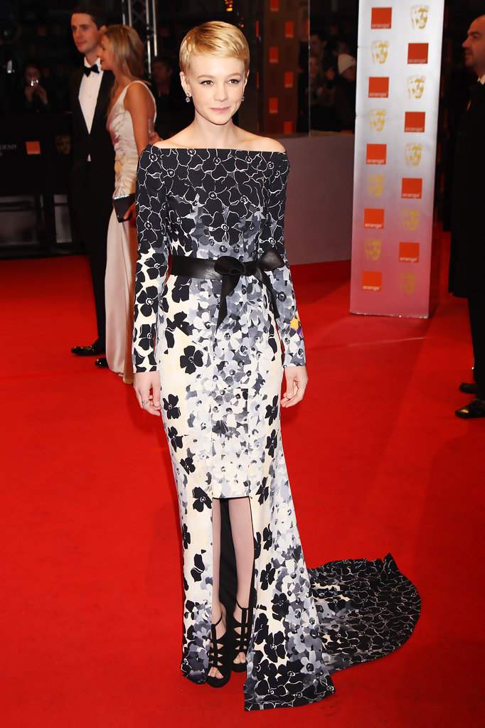 (UK TABLOID NEWSPAPERS OUT) Carey Mulligan arrives at the Orange British Academy Film Awards held at The Royal Opera House on February 21, 2010 in London, England.