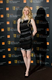 Talulah Riley attended the Orange British Academy Film Awards in glittery black pointy toe pumps.