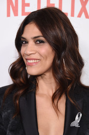 Laura Gomez was gorgeously coiffed with barrel waves at the New York premiere of 'Orange is the New Black.'