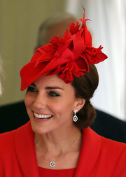 Kate Middleton attended the Order of the Garter service wearing a Mappin & Webb white gold and diamond pendant.