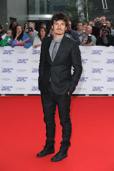 Orlando Bloom Leather Lace-ups [red carpet,carpet,premiere,suit,event,flooring,formal wear,orlando bloom,national movie awards,london,england,royal festival hall,red carpet arrivals]