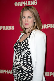 Anna Chlumsky's dirty blonde hair looked cool and casual at the opening night of 'Orphans' in NYC.