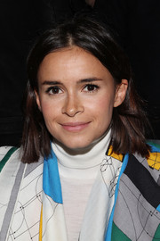 Miroslava Duma kept it casual with this center-parted straight cut during the Ostwald Helgason fashion show.