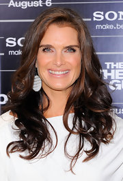 Brooke Shields showed off her long brunette curls while hitting the premiere of 'The Other Guys'.