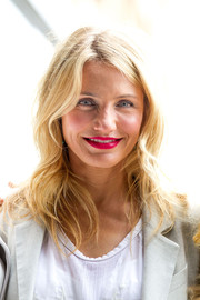 Cameron Diaz topped off her look with subtly wavy layers during the Sydney photocall for 'The Other Woman.'