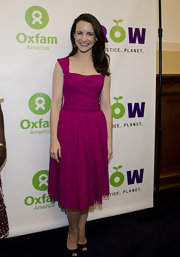 Kristin Davis wore this bright berry cocktail dress to the Planet Summit Awards.