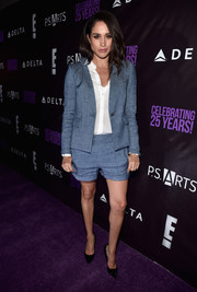 Meghan Markle looked oh-so-cool in her blue short suit at the P.S. Arts party.
