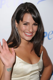 Lea gave the camera a quick peek at her wrist tattoo.