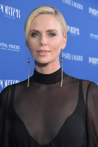 More Pics of Charlize Theron Twisted Bun (4 of 11) - Charlize Theron Lookbook - StyleBistro