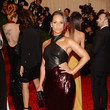 Alicia Keys in Sequins and Leather
