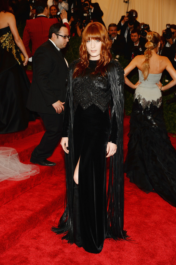 Florence Welch attends the Costume Institute Gala for the 'PUNK: Chaos to Couture' exhibition at the Metropolitan Museum of Art on May 6, 2013 in New York City.