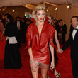 Anja Rubik in Red Leather