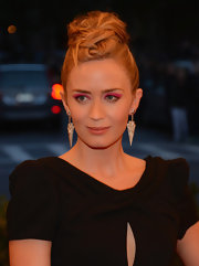 Emily Blunt pinned her hair up into a funky mix of a bun and a braid for her punk-inspired look at the 2013 Met Gala.