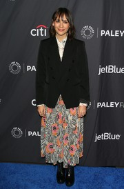 Rashida Jones was all business in a black blazer at the PaleyFest LA 'Parks and Recreation' 10th anniversary reunion.