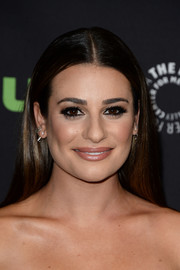 Lea Michele opted for this straight center-parted style for her PaleyFest Los Angeles look.