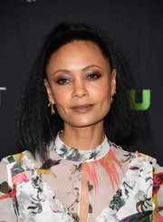 Thandie Newton rocked a teased ponytail at the 'Westworld' panel during PaleyFest Los Angeles.