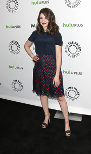 Alison Brie wore an adorable dotted skirt when she attended PaleyFest 2012.
